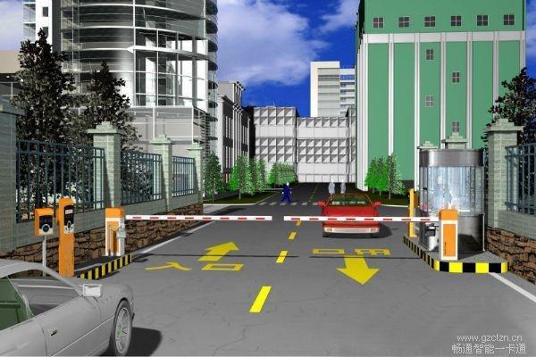 智能停车场管理系统丨对开模式图片